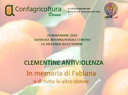 Confagricoltura Donna: 25 novembre, clementine per sostenere centri antiviolenza