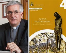 'Cristo non ha mani' con il giornale La Provincia