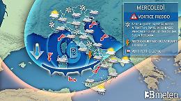 Irrompe l'inverno, in arrivo maltempo, freddo e neve anche in Pianura