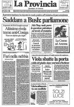 Saddam a Bush: parliamone