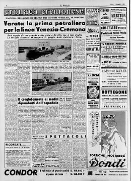 Varata la prima petroliera per la linea Venezia-Cremona