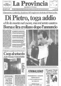 Di Pietro, toga addio