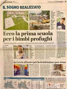 """Nicolò Govoni: """"Gli articoli che condivido con più affetto sono e sempre saranno quelli della Provincia di Cremona"""""""