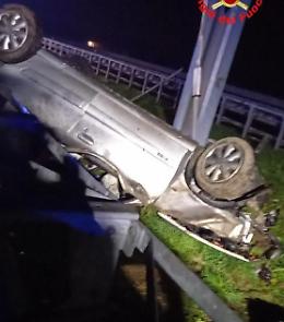 Tragico fuori strada in A21, due morti. Erano residenti a Cremona
