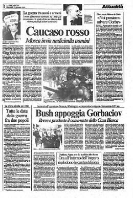 Caucaso rosso Mosca invia undicimila uomini