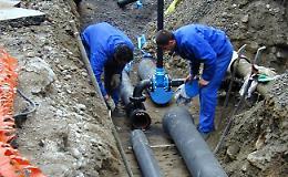 Lavori alla rete idrica in via Leonardo Da Vinci