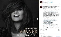 """Golden Globe 2021, premiata Laura Pausini con """"Io sì"""""""