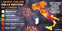 In vigore il nuovo Dpcm. Da lunedì alcune Regioni cambiano colore