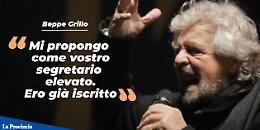 "Grillo: ""Mi propongo segretario del Pd"""