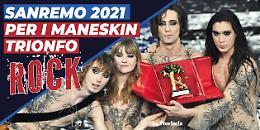 Sanremo, trionfo rock con i Maneskin
