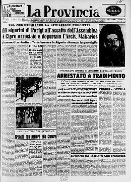 Gli algerini di Parigi all'assalto dell'Assemblea A Cipro arrestato e deportato l'Arciv. Makarios