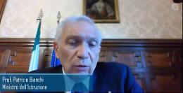 VIDEO Convegno online con il ministro dell'Istruzione Patrizio Bianchi