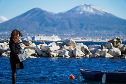 Neve sul Vesuvio, temperature più fredde