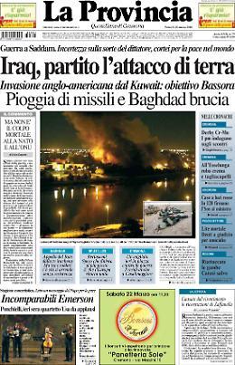 Baghdad sotto le bombe. Inizia la seconda guerra del Golfo