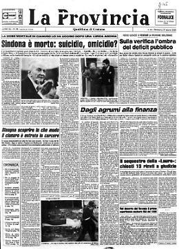 Sindona è morto: suicidio, omicidio?
