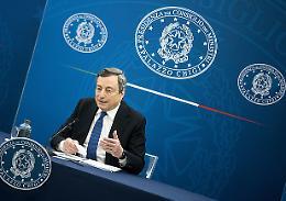 Draghi: 'Impegno su ripresa, programmare le riaperture'