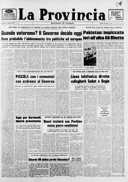 Pakistan: impiccato ieri all'alba Ali Bhutto