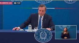 VIDEO  Draghi: 'Voglio riaprire ma in sicurezza, ancora però non ho una data'