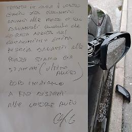 """""""Il tuo gatto ci dà fastidio"""": ignoti vandalizzano l'auto"""
