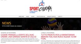 Sportcrema.it: home page ferma al novembre 2019