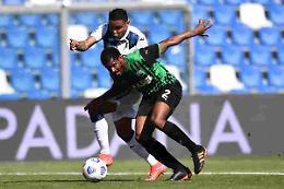 Berardi risponde a Gosens, è 1-1 fra Sassuolo e Atalanta