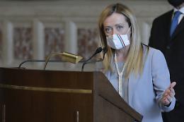 """Governo, Meloni """"Continuità tra Conte e Draghi"""""""