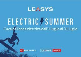 "Leasys ""Electric Summer"", un mese di offerte per la mobilita' elettrica"