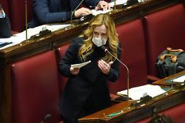 """Meloni """"Da Draghi parole di terrore, green pass non è libertà"""""""