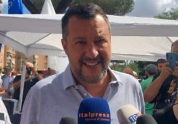 """Salvini """"Salute e lavoro senza rovinare agosto a italiani"""""""