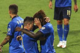 Show Kean-Raspadori, l'Italia travolge la Lituania 5-0