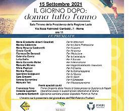"""Premio """"Il giorno dopo: Donna tutto l'anno"""" a 18 eccellenze italiane"""