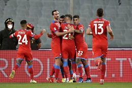 Fiorentina ribaltata, il Napoli fa sette su sette