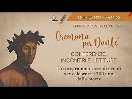 """VIDEO Presentazione dell'iniziativa """"Cremona per Dante"""""""