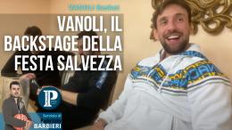 Vanoli, il backstage della festa salvezza
