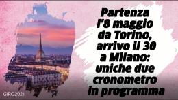 Giro d'Italia al via sabato 8 maggio da Torino