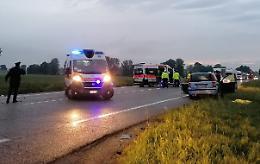 La scena dello schianto fatale avvenuto a Vescovato