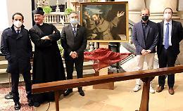 Il dipinto restaurato, San Francesco ritrova i colori