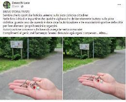 Chiodi e puntine sulla pista ciclistica, la denuncia di Zanacchi