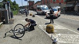 Investimento a Ombriano, 21enne in ospedale