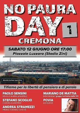 A Cremona la manifestazione free vax: tra gli ospiti c'è Povia