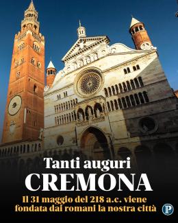 Il natale di Cremona. Oggi 31 maggio del 218 a.c. viene fondata dai romani la città
