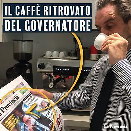 Attilio Fontana ritrova il piacere del caffè leggendo La Provincia di Cremona