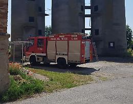 Gatto salvato dai vigili del fuoco volontari di Piadena Drizzona