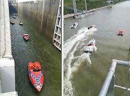 Raid Pavia-Venezia, lo show dei bolidi dell'acqua