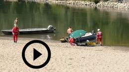 Rischia di annegare nell'Adda, l'intervento dell'elisoccorso