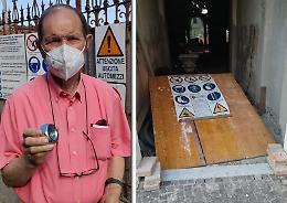 Tentato furto nell'ex asilo, obiettivo i dadi giganti in acciaio zincato