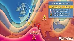 Italia sotto la cappa africana, temporali al Nord e picchi oltre 40° al Sud