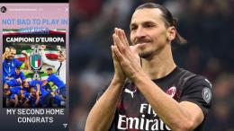 """Ibrahimovic celebra il trionfo degli Azzurri con """"La Provincia"""""""