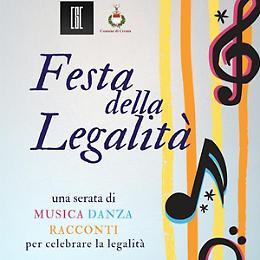 Festa della Legalità Musica, danza, racconti