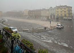 Tempesta di  grandine sul Casalasco: gravi danni e allagamenti